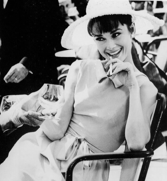 Audrey Hepburn smoking