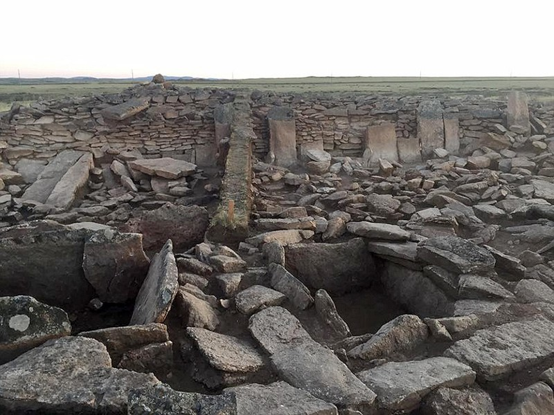 The archeological site in Kazakhstan